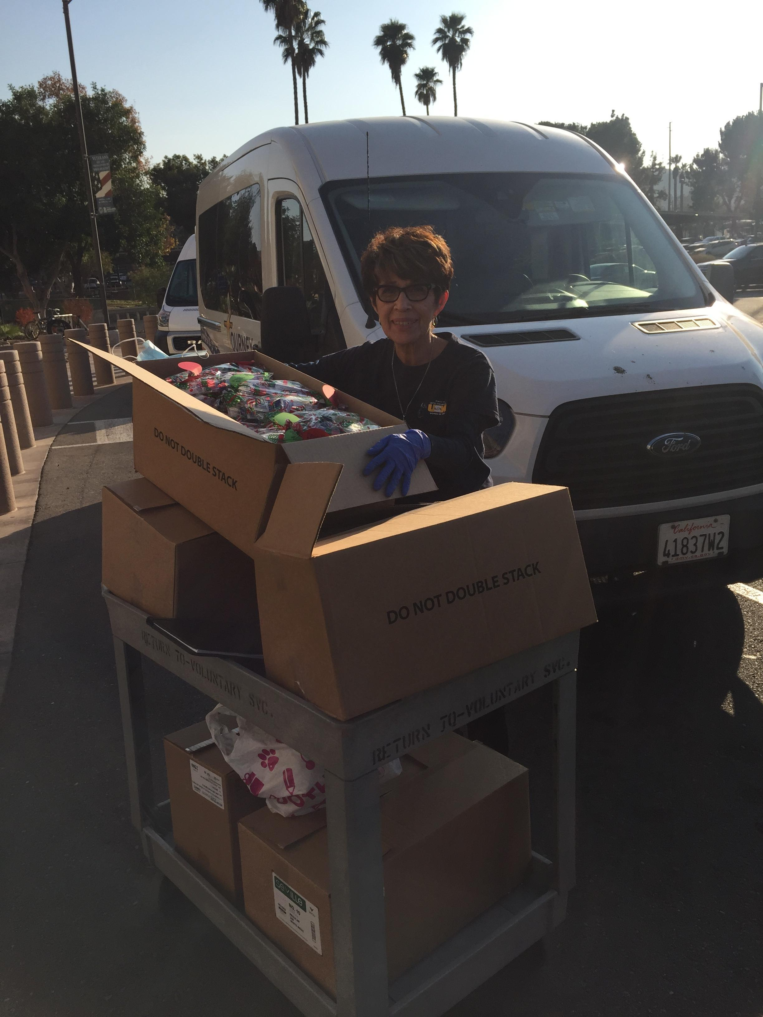 Delivery of care bags to the Loma Linda Veterans Hospital